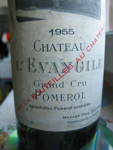 Der 1955er Chateau L´Evangile