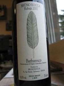 """Barbaresco """"Rabajá"""" 2007 von Bruno Rocca, Piemont"""